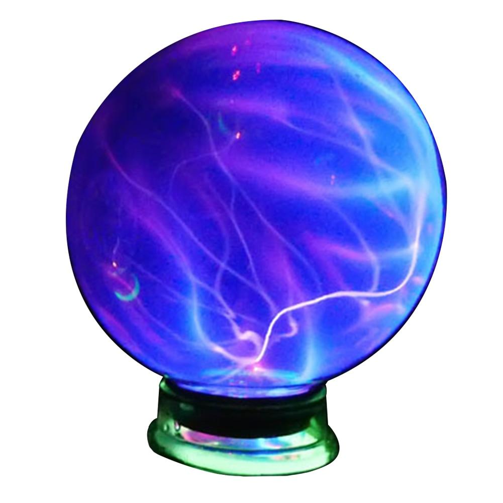 4/5/6 Inch Plasma Ball Lightning Ball Magic Glass Ball Electrostatic Spherical Light Night Light Novelty Holiday Home Decoration