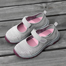 2020 New women sneakers  Breathable Mesh Slip-on Flat Shoes Comfortable Casual soft bottom  Walking leisure  shoes cresfimix chaussures pour femmes women cute spring slip on flat shoes with rubber bottom lady casual comfortable street shoes