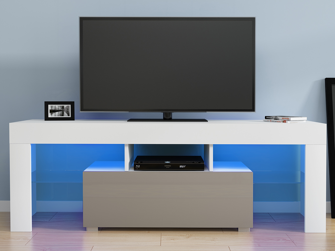 Panana 130cm High Gloss Front LED TV Stand Modern LED Living Room Furniture TV Cabinets Design Meuble Tv Fast Delivery