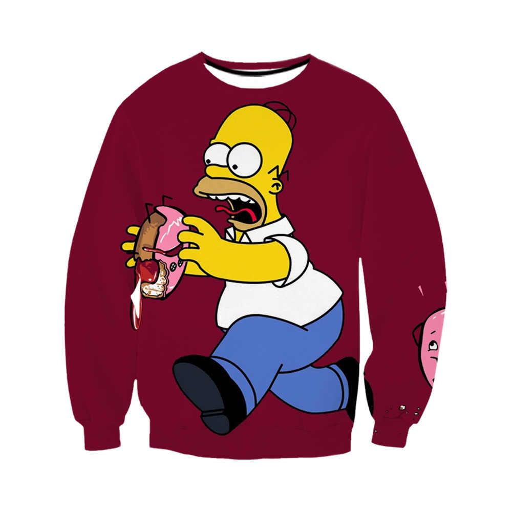 3D 인쇄 애니메이션 만화 심슨 재미있는 하라주쿠 후드/셔츠/스웨터/바지 옷 힙합 Tracksuit 코트 보내기 선물
