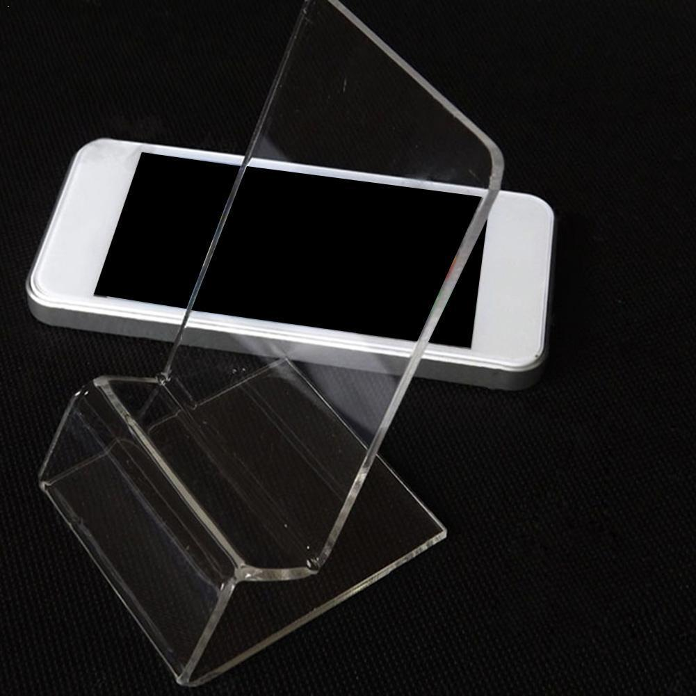 1 PCS Transparent Office Desk Accessories Card Clip Card Desk Holder Id Plastic Business Card Stand Display Holders Acrylic T2P4