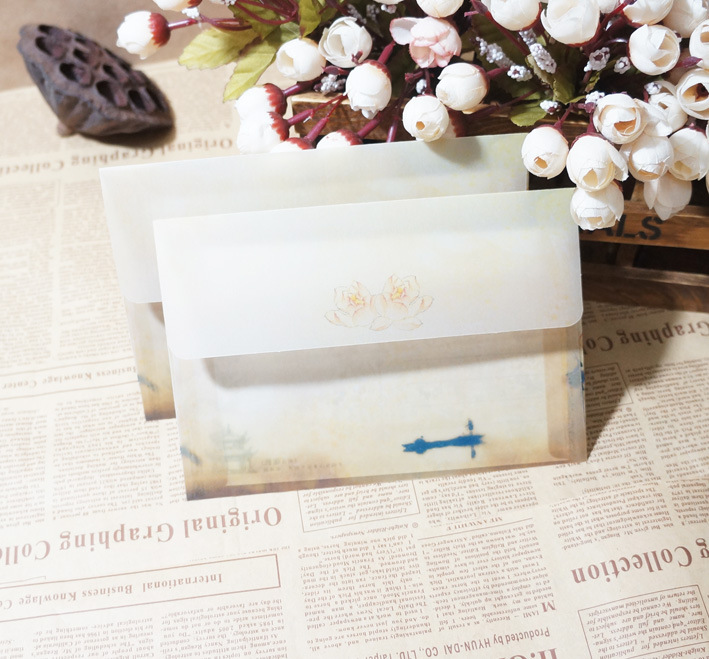 Sui Yue Fang Translucent Hazy Chinese-style Retro Sulfuric Acid Paper Envelope Of Dutch-Coast