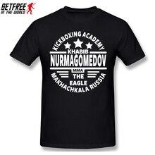 Russia Khabib Nurmagomedov MMA Boxing T Shirt Vintage Oversized O-neck Cotton Custom Short Sleeve Anime Shirt 5614U