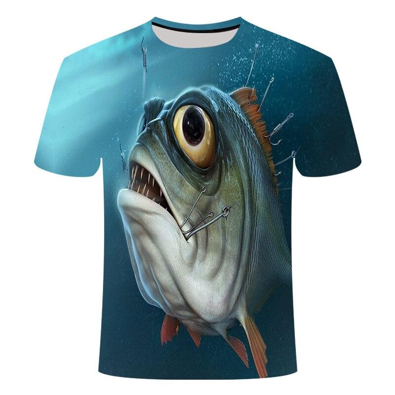 Акула Футболка мужская морская футболка в стиле панк-рок одежда 3d футболка животное рэп хип-хоп Футболка фитнес Мужская одежда 2019 Новые