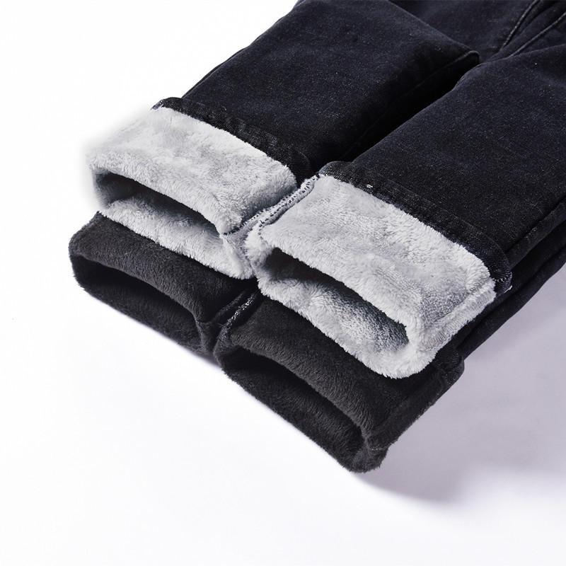 Vintage High Waist Jeans Women Warm Thick Plus Velvet Denim Jeans Pants Trouser Stretch Slim Winter Pencil Pants Mom Jeans Q1948