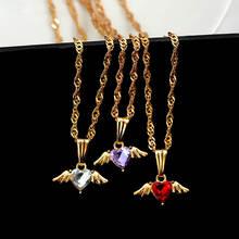 Женское Ожерелье flatfoosie разноцветное блестящее ожерелье