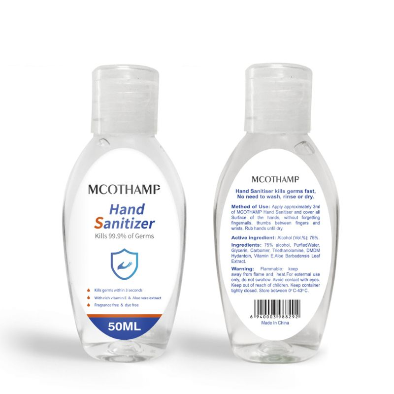 50ml 75% Alcohol Disposable Hand Sanitizer Gel Anti-Bacteria Soap Disinfectant T4MB