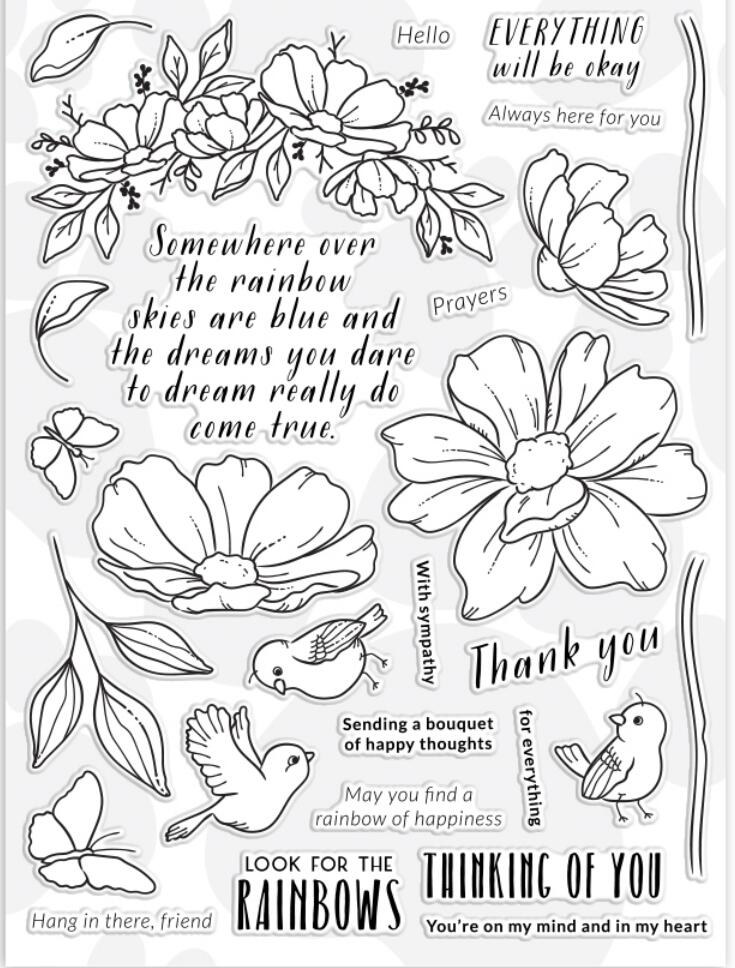 Clear-Stamps Scrapbooking Decoration Flower Transparent Kids Suppliesa2132 for DIY Fun