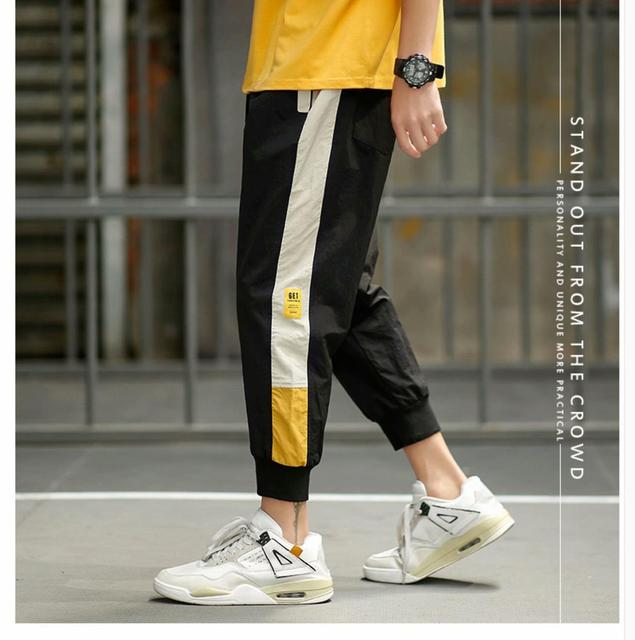 2020  Hip Hop Sweatpants Men Streetwear Fitness Pants Casual Black Dark Grey Joggers Sweatpants 13