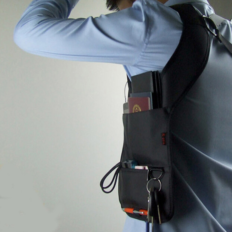 Anti Theft Secret Agent Bag Hidden Underarm Shoulder Bag Holster Wallet Armpit Case Secret Agent Service Bag Men's