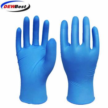 DEWBest rękawice nitrylowe czarne Food Grade wodoodporne dla alergików medyczne jednorazowe rękawice ochronne rękawice nitrylowe mechanik tanie i dobre opinie Disposable Rękawice robocze OEM and DEWBEST S M L XL
