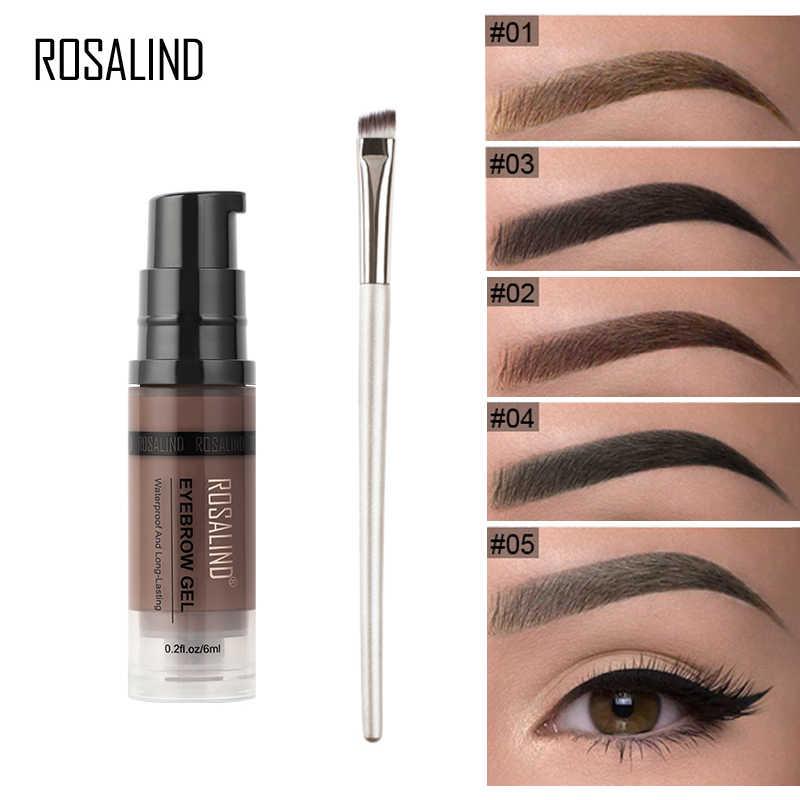 ROSALIND Gel para sombras para cejas Kit de herramientas para pinceles de cejas Gel transparente maquillaje cosmético profesional para tatuaje de tinte de cejas