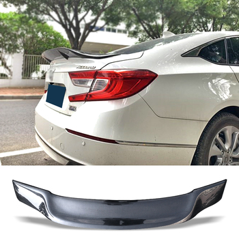Car Trunk Spoiler Carbon Fiber FRP Auto Rear Trunk Wing R Style Refit Accessories Spoiler For Honda Accord 2018 2019