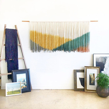 Bohemian Style Hand Woven Dyed Tapestry Home Decoration Wall Hanging Painting Cloth Sofa Background Bedside Decor Art Tapestries