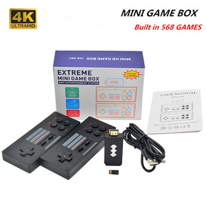 USB Video Game Console Built in 818/620 Classic Games 4K HDMI Output Retro Portable TV GAME Console Wireless Gamepad