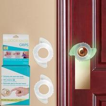 Luminoso alça de porta redonda silicone capa protetora de segurança doméstica dustproof crash pad bebê anti-colisão capa protetora