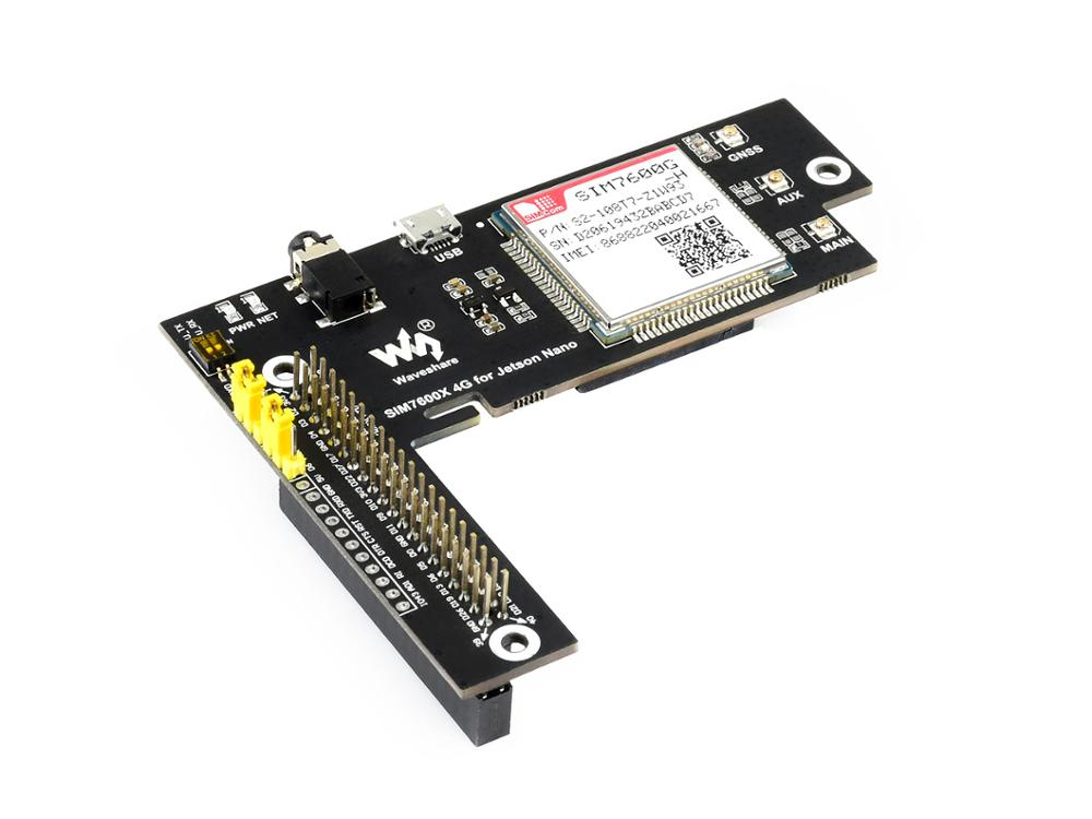 SIM7600G-H 4G For Jetson Nano The Global Version 4G/3G/2G/GSM/GPRS/GNSS HAT For Raspberry Pi Pretty Low Power Consumption
