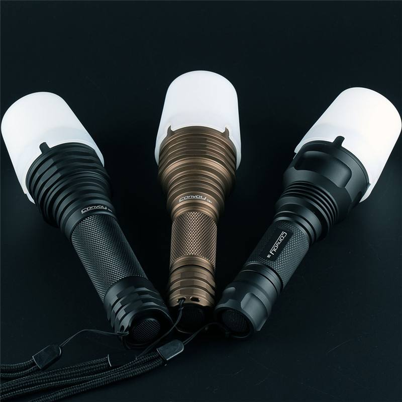 1PC Convoy White Silicone Luminous Diffuser Light Cover For Convoy C8/C8+/M21A Flashlight Soft Light Shade Lamp Torch Cover