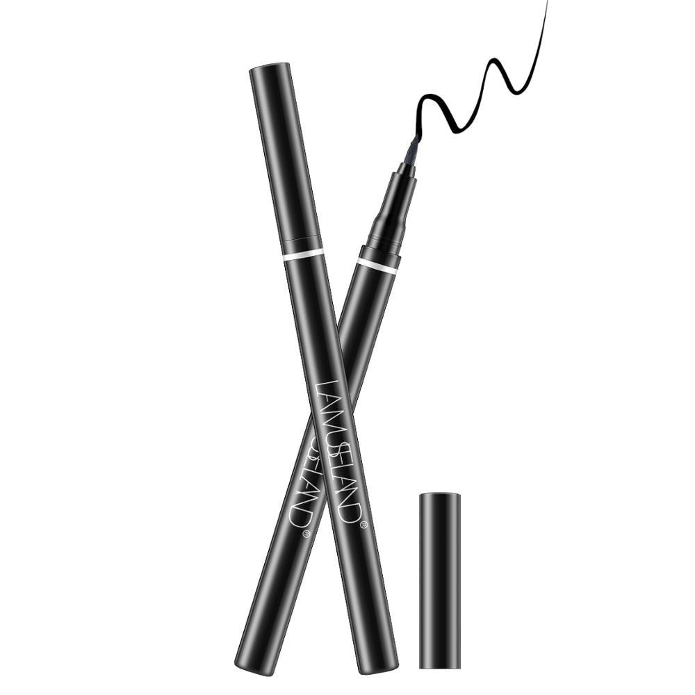 LAMUSELAND Δεν είναι αδιάβροχο αδιάβροχο ματιών μαύρο υγρό μακράς διαρκείας ματιών μολύβι 0,7g καλλυντικά # L19E03