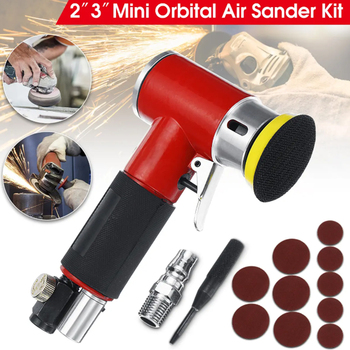 2inch 3inch Mini Air Sander Kit Pad Eccentric Orbital Dual Action Pneumatic Polisher Polishing Buffing Tools For Auto Body jrealmer 2 inches pneumatic air polisher sander eccentric polishing machine pneumatic polisher tool