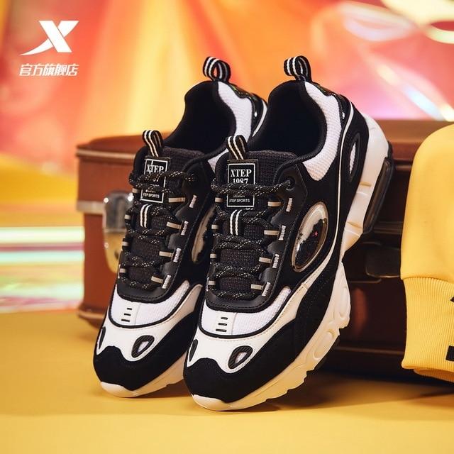 Xtep Women's Air Cushion Sneaker Winter Fashion Casual Lightweight Walking Shoes For Women Air Mesh Leisure shoes   880118325031