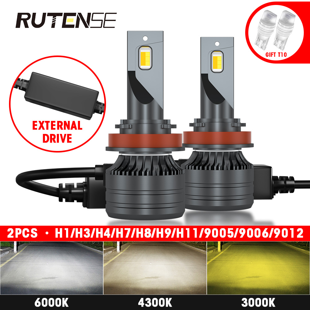 headlight h7 led h4 h11h3 h8 h9 9005 hb3 9006 hb4 9012 hir2 auto Car Accessories h4 led headlamp bulb 12V 24V 3000K 4300K 6000K image