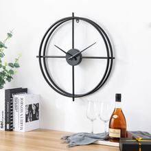 Minimalist wrought iron wall clock home decoration office large mute table European modern design watch