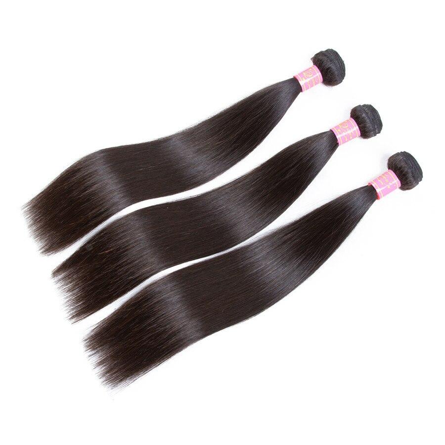 Queen Love Hair Brazilian Straight Hair Weave Bundles Double Weft 1/3/4 PCS Natural Color 8-30 Inch Remy Hair Weave Bundles
