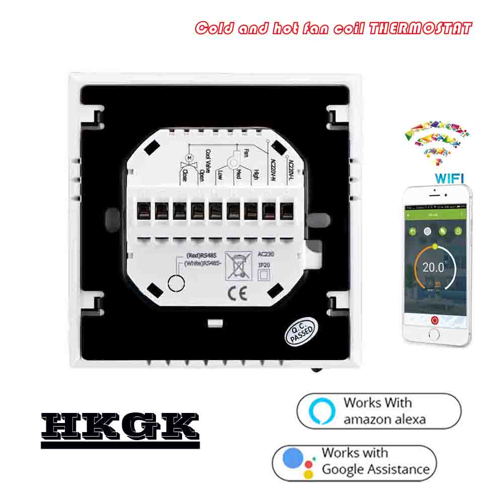 2PIPE fan coil unit thermostat WIFI TUYA for FCU Works with Alexa Google home
