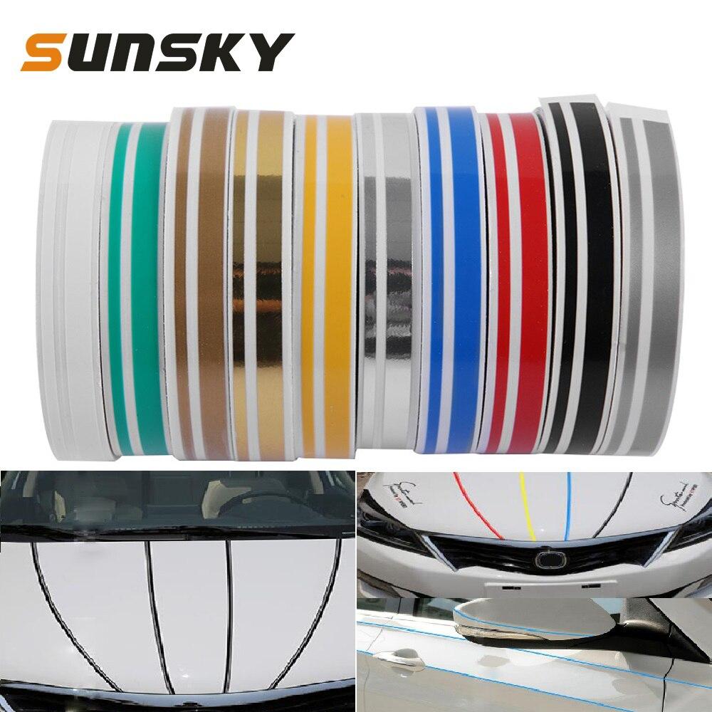 Adesivo decorativo automotivo, fita adesiva para decalque do corpo do carro, 12mm × 9.8m decoração automática estilo