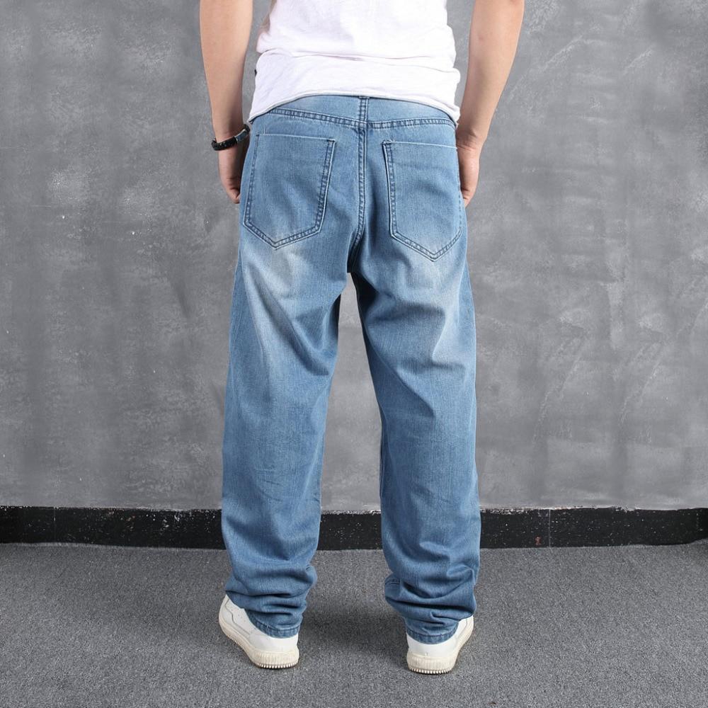 Men`s Loose Large Size Fat Casual Fashion Hip Hop Street Dance Denim Trousers #4L31 (15)