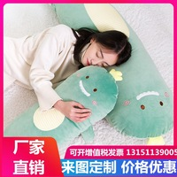 2019 New Style Animal Long Pillow Cute Dinosaur Pink Pig Panda Hand Warmer Back Cushion Boyfriend Pillow Washable