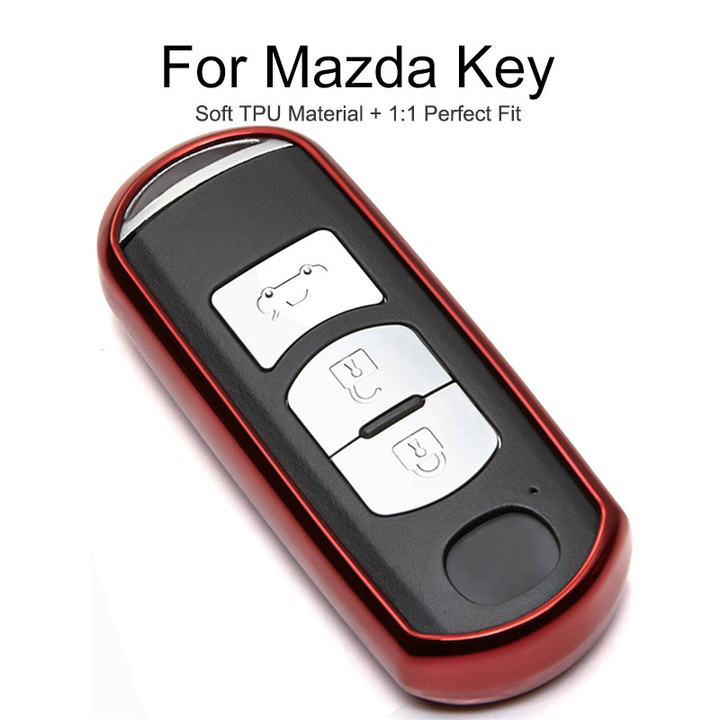 6 Colors TPU Car Key Cover Case For <font><b>Mazda</b></font> CX-5 CX5 CX 7 CX-7 <font><b>CX9</b></font> 6 3 Axela <font><b>2014</b></font> 2015 MX5 MPV Atenza Key Chain Ring Shell Styling image