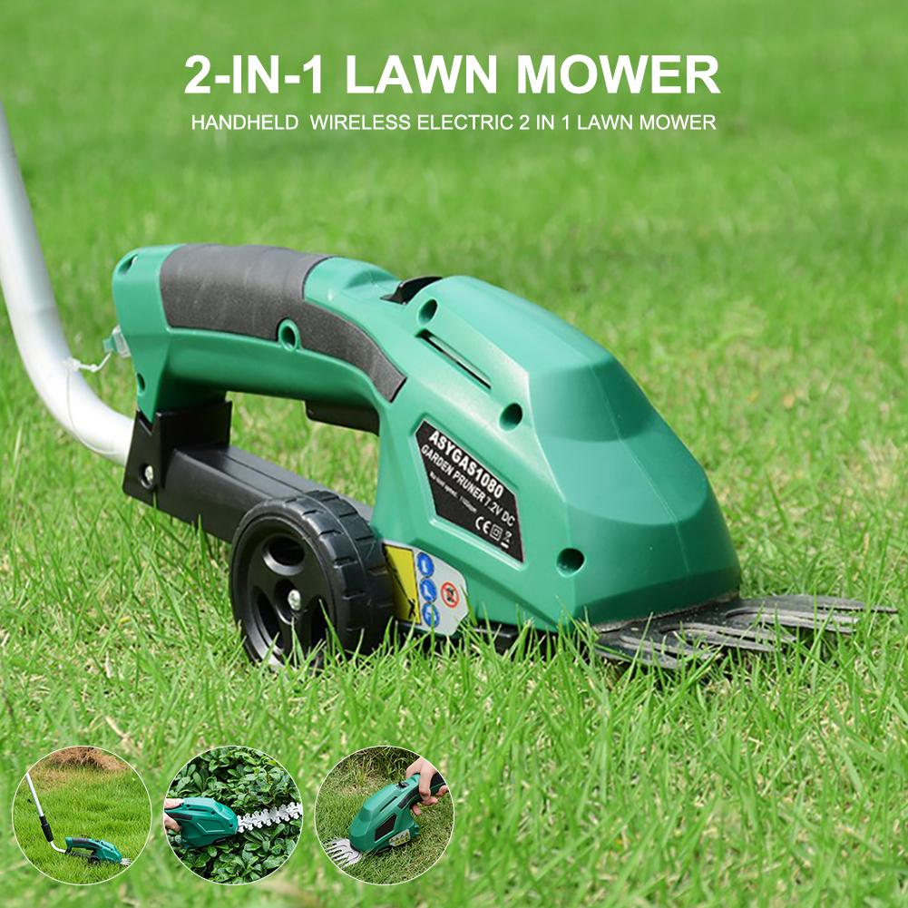 Weeding Shear Household Pruning Mower Cordless Lawn Mower Handheld Hedge Shrub Trimmer Electric Multi-function Lawn Mower