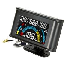 New 4 In 1 LCD 12v/24v Excavator Truck Car Oil Pressure + Voltmeter Volt + Water Temperature Gauge +Oil Fuel Gauge With Alarm