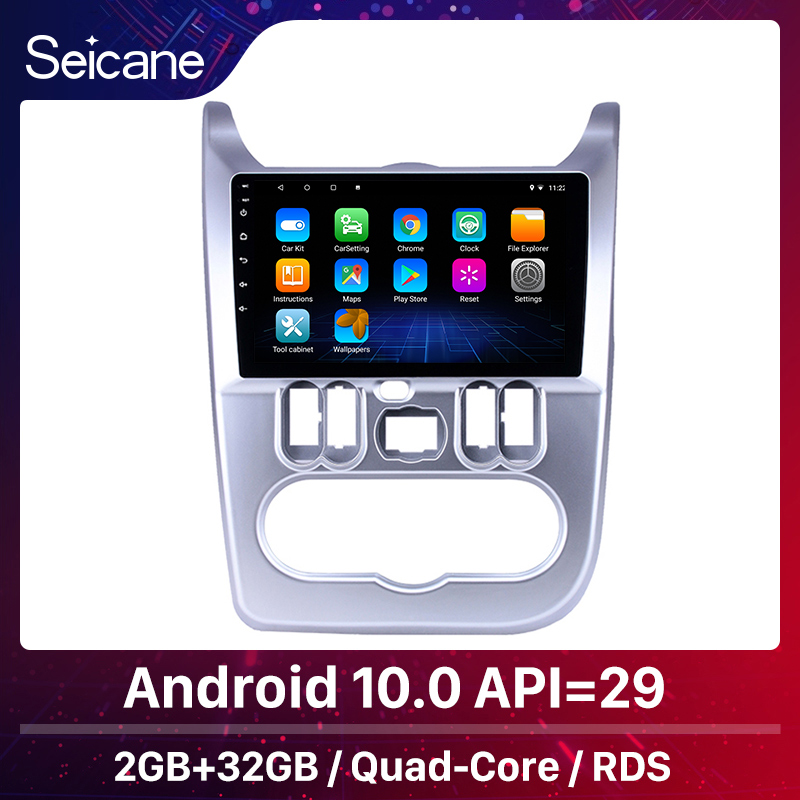 Seicane 9 inch Car GPS Radio Android 10 for Renault Duster/Logan 2009 2010 2011 2012 2013 Head Unit Player support Carplay WIFI