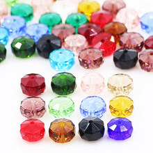 40 pçs jóias diy fazendo suprimentos 10mm verde cristal plana contas redondas de vidro com furo atacado traje jóias acessórios