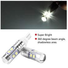 T10 12 v-24 v 50 w 6000 k 700lm de alta potência brilhante lâmpadas led posição lâmpada de apuramento, luz dia de condução