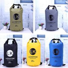 20L Waterproof Bags Storage Dry Sack Bag Drifting PVC Shoulder Bags  Outdoor Sport Camping Boating Storage Bags Backpack цена