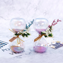 3 minutes creative hourglass dry flower timer time small ornaments study office home decorations children's gifts arts crafts