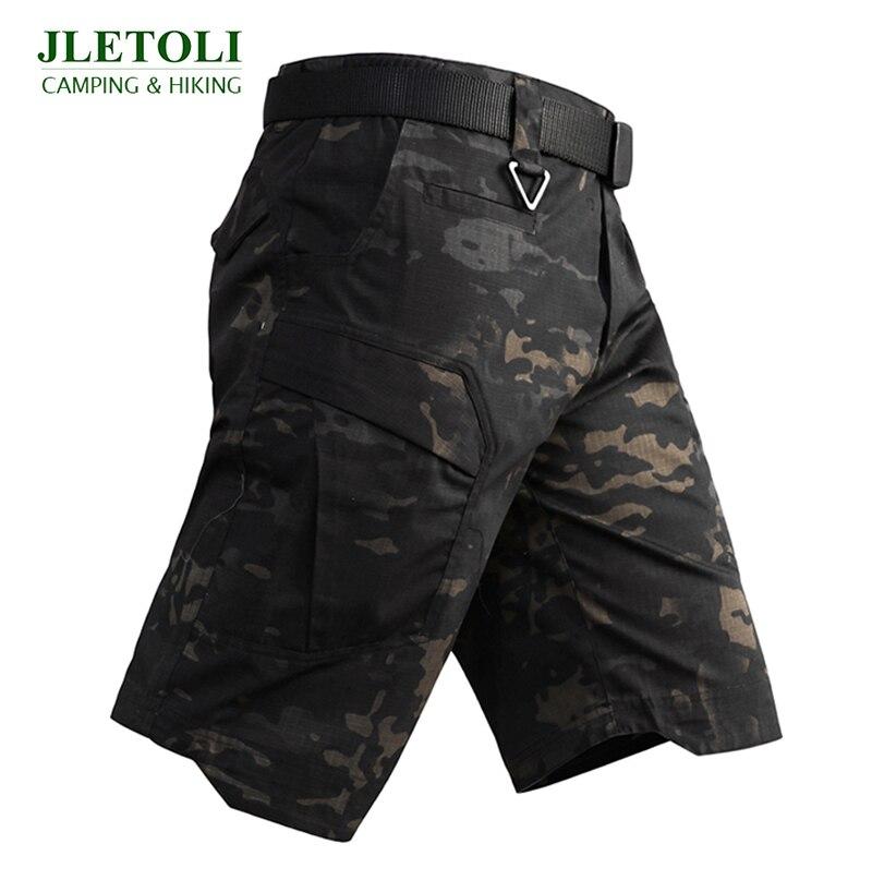 JLETOLI Summer Hiking Shorts Men Multi Pocket Loose Camouflage Short Outdoor Climbing Army Military Training Tactical Shorts