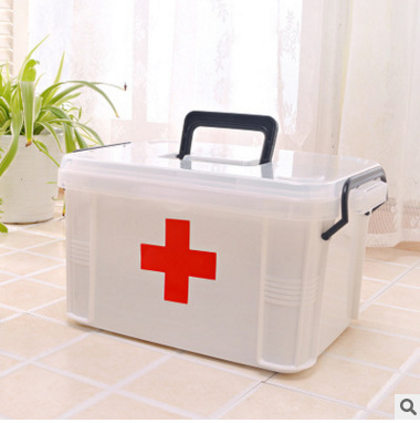 Family Medicine Cabinet Multilayer Medical Use First Aid Medicine Storage Health Kit Household Plastic Children Small Box