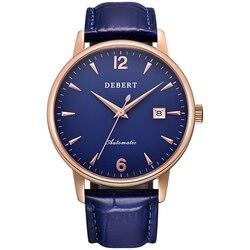 Klasyczny vintage men watch mechaniczny Seagull sapphire mechanizm automatyczny kalendarz 40mm zegarki ze stali nierdzewnej Zegarki mechaniczne Zegarki -