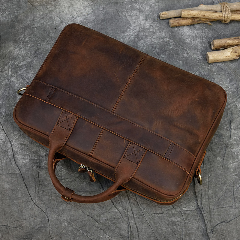 """H57c78c0925b24745920b494c2cd1b90d1 MAHEU Men Briefcase Genuine Leather Laptop Bag 15.6"""" PC Doctor Lawyer Computer Bag Cowhide Male Briefcase Cow Leather Men Bag"""