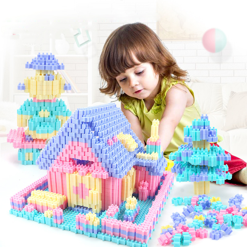 Image 3 - 450PCS Fun Puzzle Building Blocks City Castle House DIY Creative Bricks Block Model Figures Educational Toys For Children Gifts-in Stacking Blocks from Toys & Hobbies