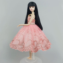 Ballet-Tutu-Dress Barbie-Doll-Clothes Outfits Skirt Doll-Accessories Girl for 1/6 Rhinestone