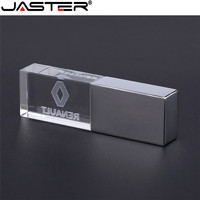 Unidad flash USB JASTER renault kristal + metalen memoria externa de 4GB 8GB 16GB 32GB 64GB 128GB