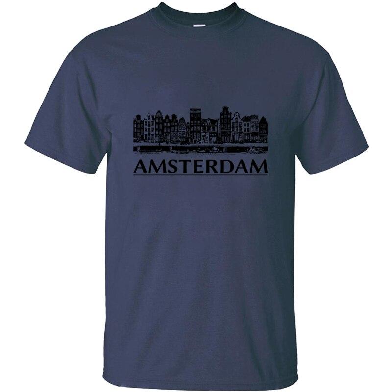 Funny Unisex Amsterdam T Shirt Men Women Trend Casual Tee Shirt Anti-Wrinkle Hip Hop Size S-5xl Short Sleeve
