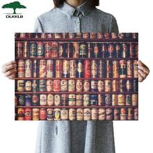 DLKKLB Retro cerveza en lata colección clásico Bar adorno cocina Vintage póster pared pegatina 51,5x36 cm pinturas decorativas