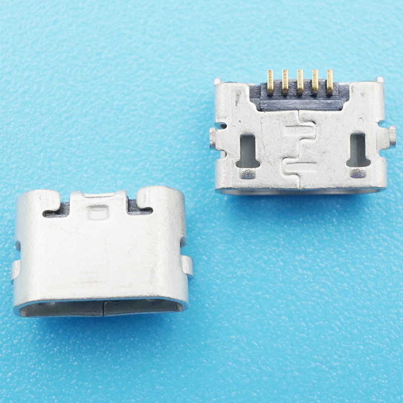 Разъем micro usb 50 шт/лот 5 контактный гнездовой разъем плоский